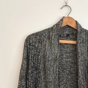 LG NIC+ZOE Silk Blend Cardigan Black Gray Sweater